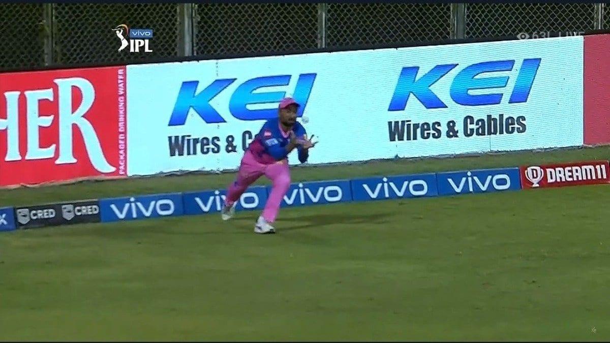 Rahul Tewatia catch