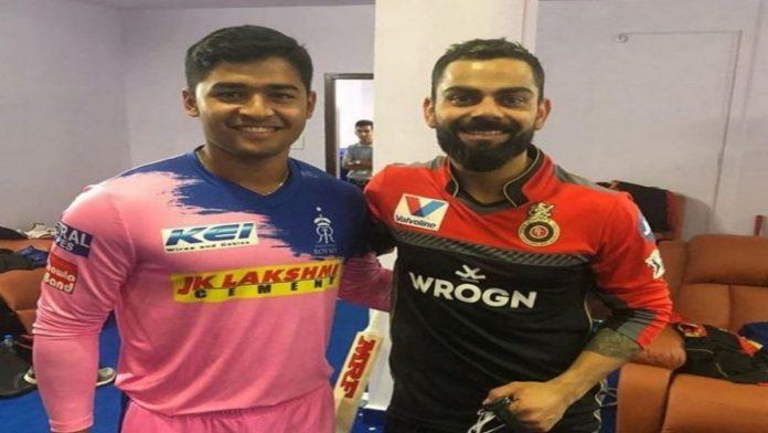 Riyan Parag and Virat Kohli