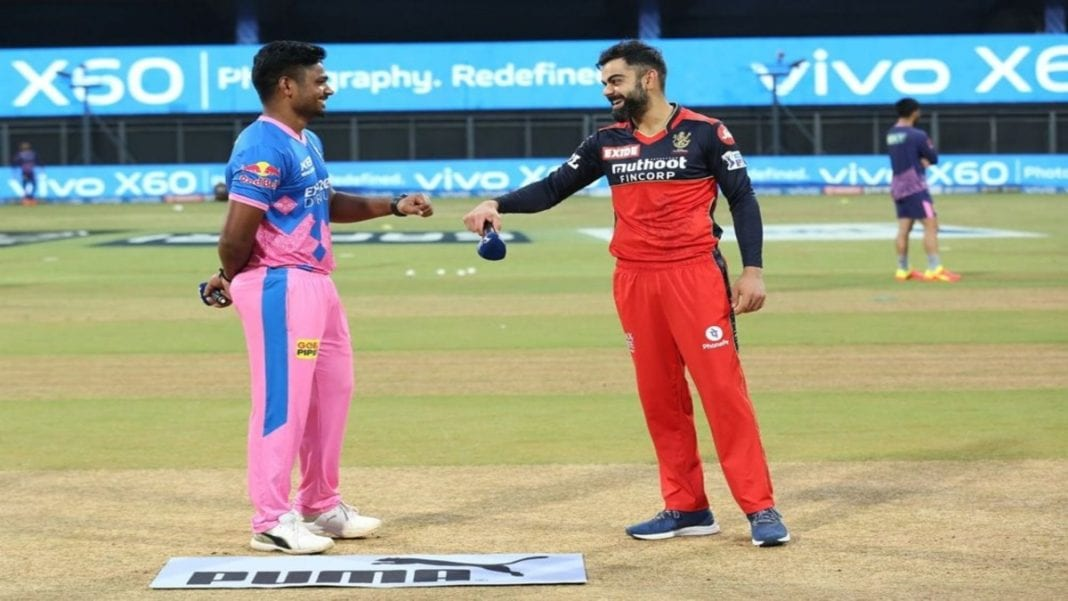 Sanju Samson and Virat Kohli at the toss