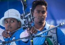 Deepika Kumari, the women recurve team captain