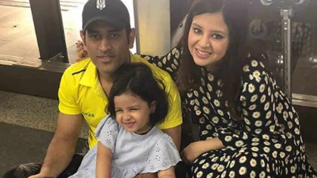 MS Dhoni wife and daughter
