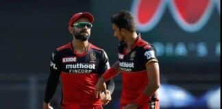 Virat Kohli and Harshal Patel