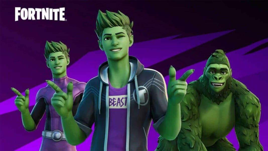 DC Beast Boy Fortnite Skin and New Teen Titans Cup