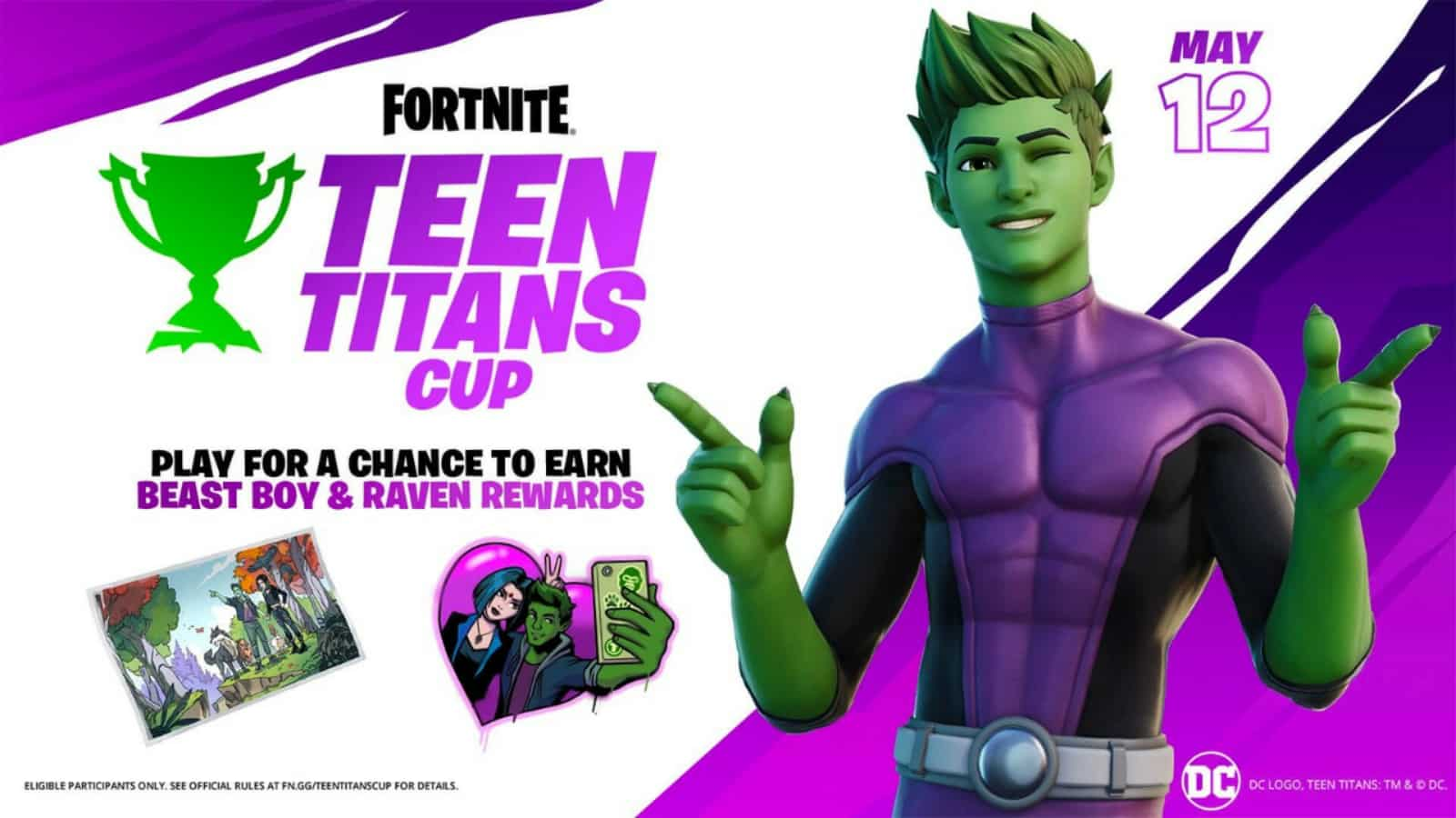 DC Beast Boy Fortnite Skin and New Teen Titans Cup: