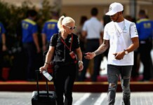 Lewis Hamilton and Angela Cullen