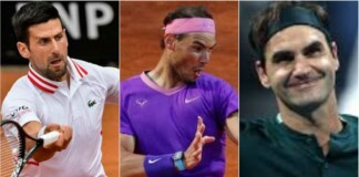 Rafael Nadal, Roger Federer, Novak Djokovic