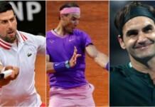 Novak Djokovic, Rafael Nadal, Roger Federer