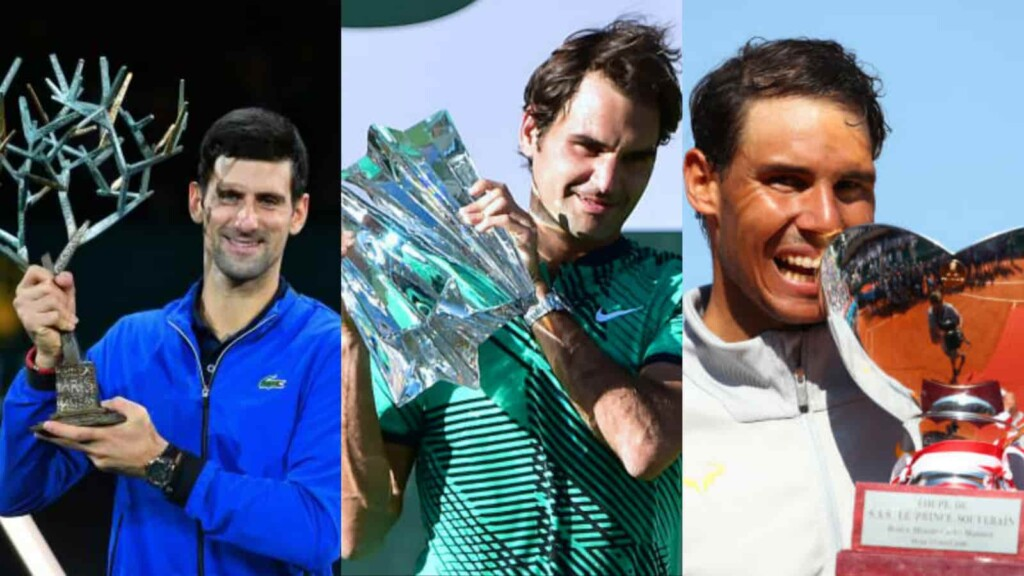 Novak Djokovic, Roger Federer and Rafael Nadal