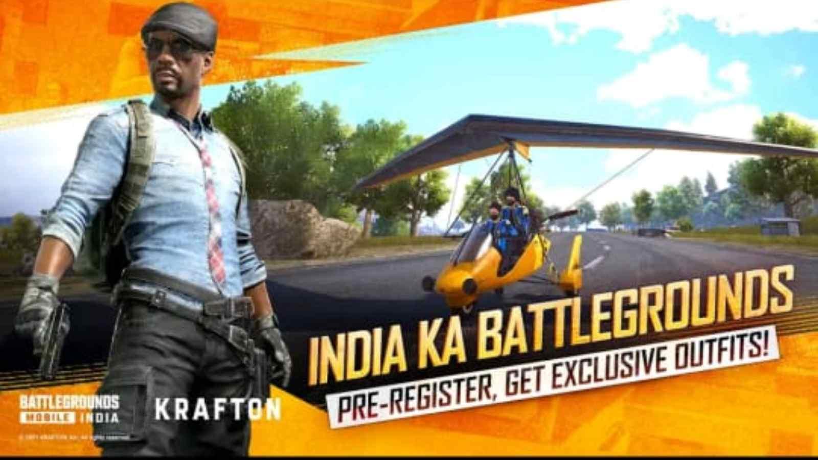 Battlegrounds Mobile India Pre-Registration
