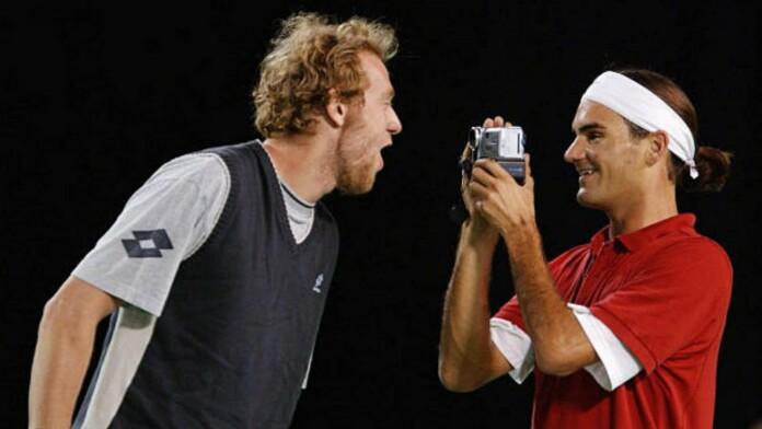 Marc Rosset and Roger Federer