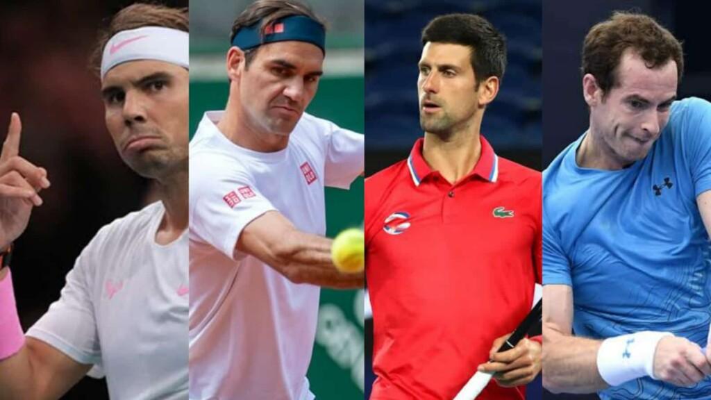 Rafael Nadal Roger Federer Novak Djokovic and Andy Murray