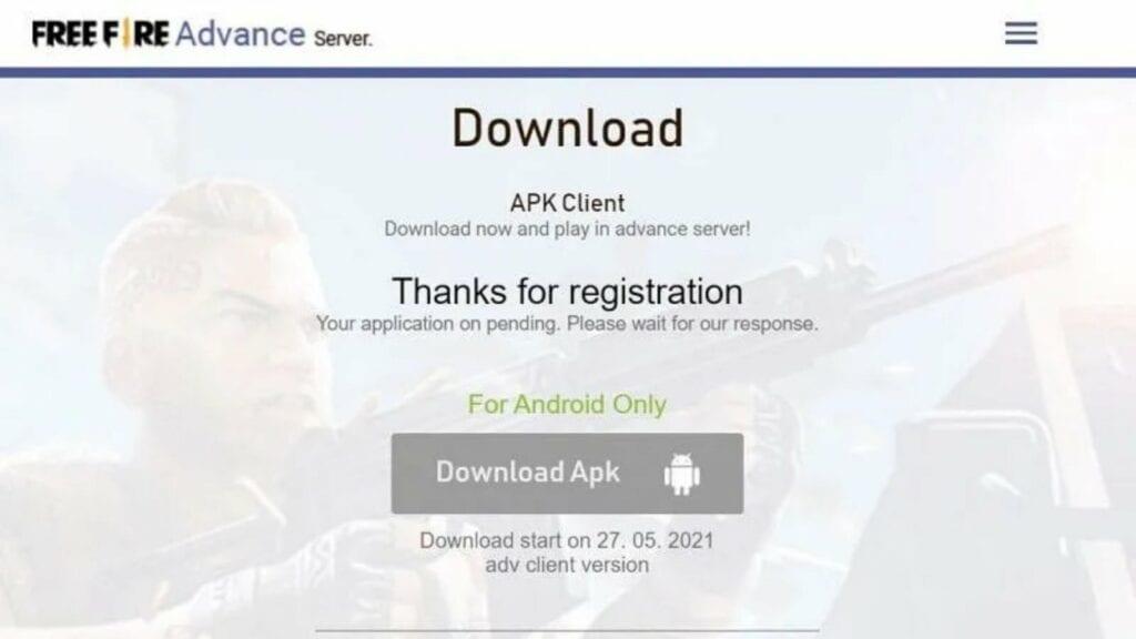 Free Fire OB28 advance server apk download