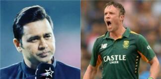 Aakash Chopra and AB de Villiers