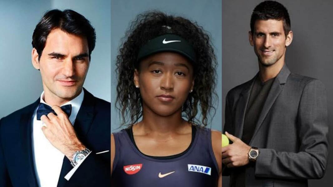 Roger Federer Naomi Osaka Novak Djokovic