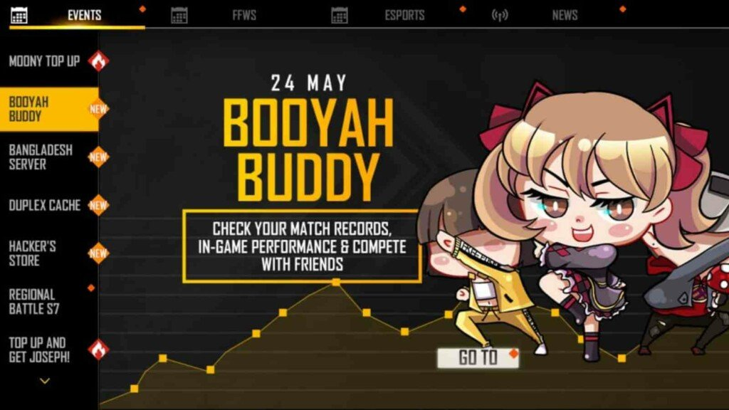 Booyah Buddy event in free fire