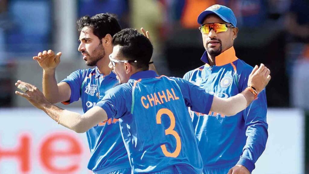 Bhuvneshwar Kumar Yuzvendra Chahal Shikhar Dhawan Team India
