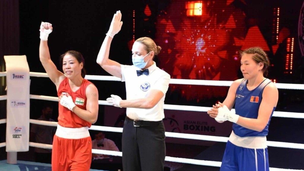 Mary Kom wins her semi final bout of Asian Boxing Championship