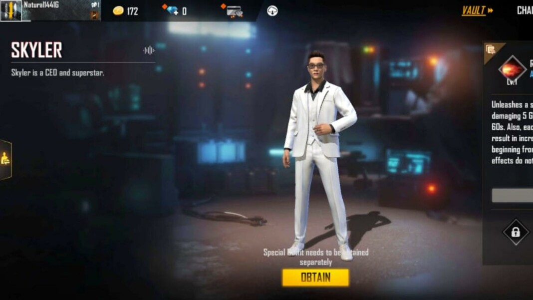 best free fire max characters