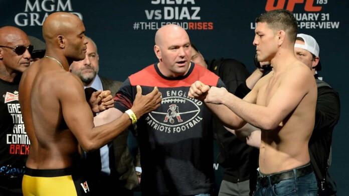 Anderson Silva and Nick Diaz