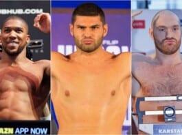 Anthony Joshua, Filip Hrgovic and Tyson Fury