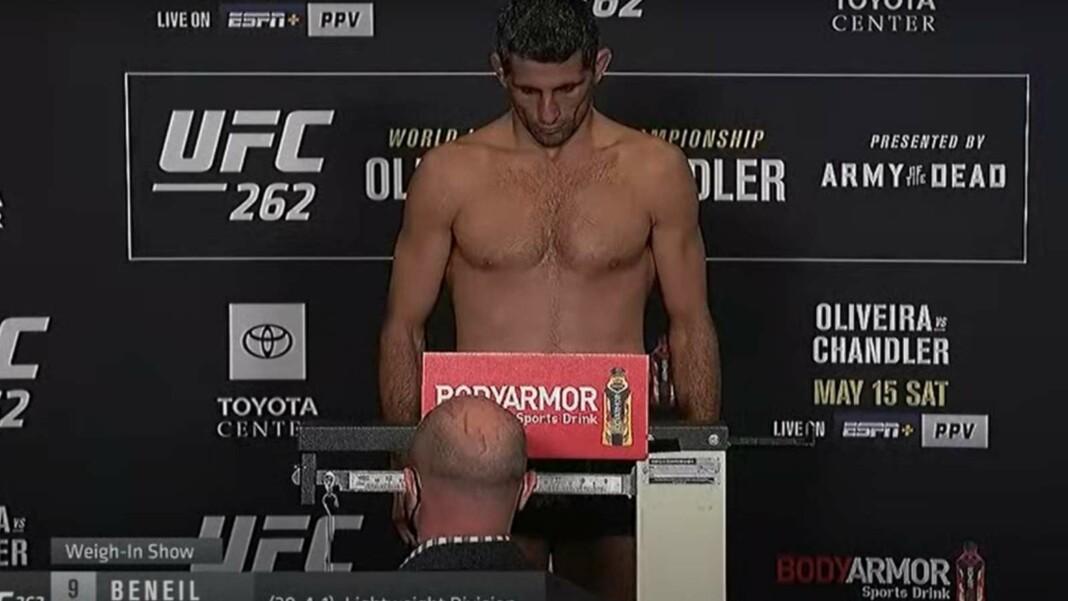 Beneil Dariush weighing in at UFC 262