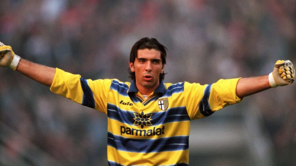 Buffon during his younger days at the club - FirstSportz