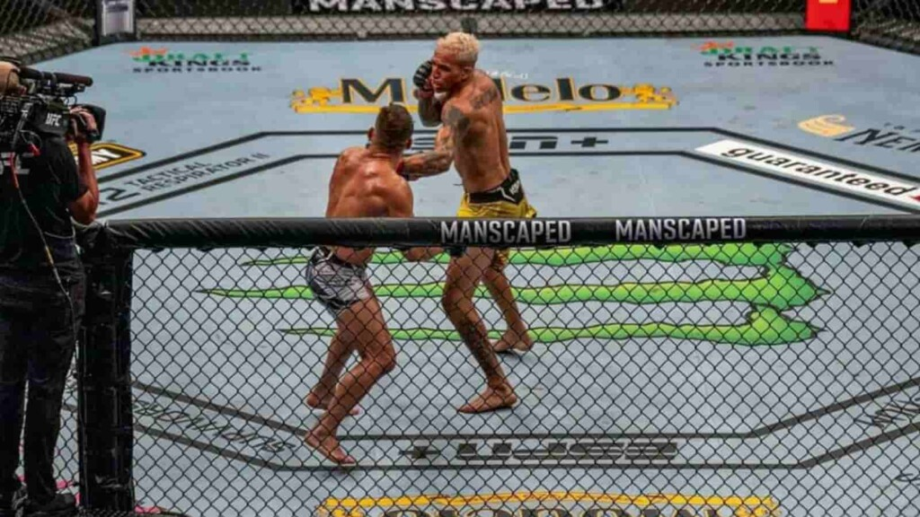 Charles Oliveira and Michael Chandler