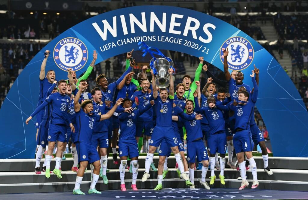 Chelsea lift the Champions League trophy