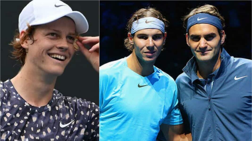 Roger Federer, Rafael Nadal and Jannik Sinner