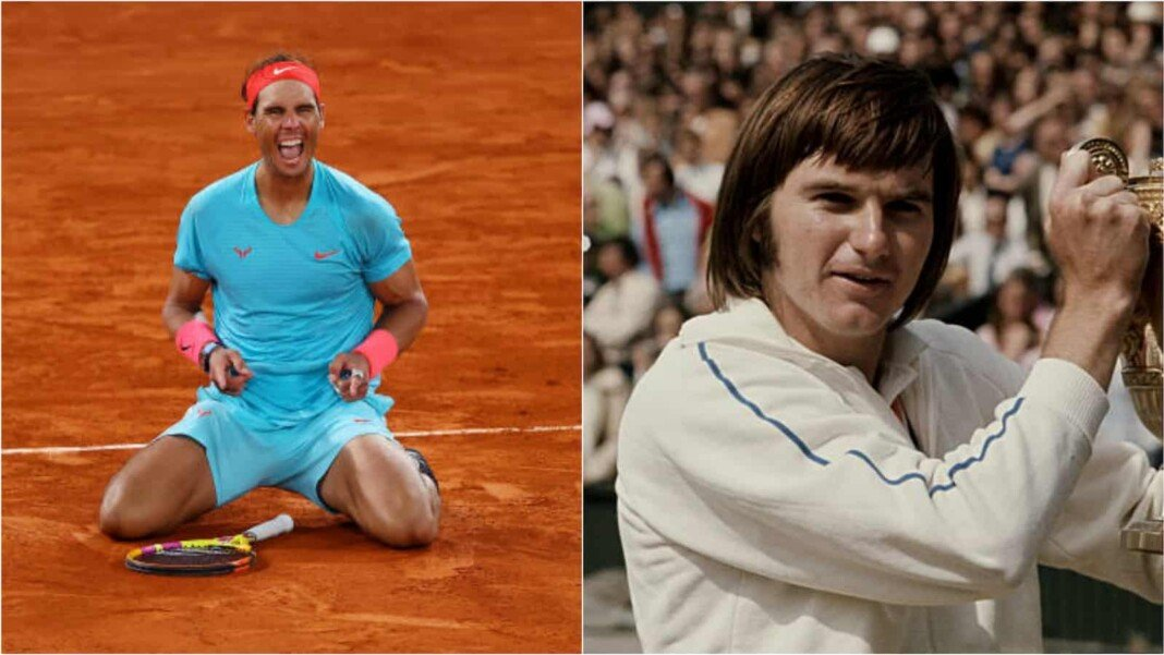 Rafael Nadal and Jimmy Connors