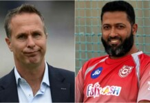 Michael Vaughan and Wasim Jaffer