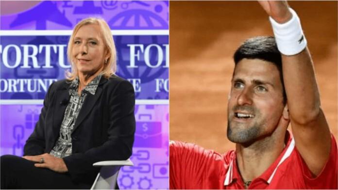 Martina Navratilova and Novak Djokovic
