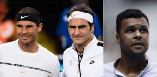 Jo-Wilfried Tsonga, Rafael Nadal, Roger Federer