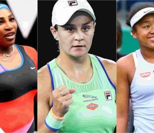 Serena Williams, Ashleigh Barty and Naomi Osaka