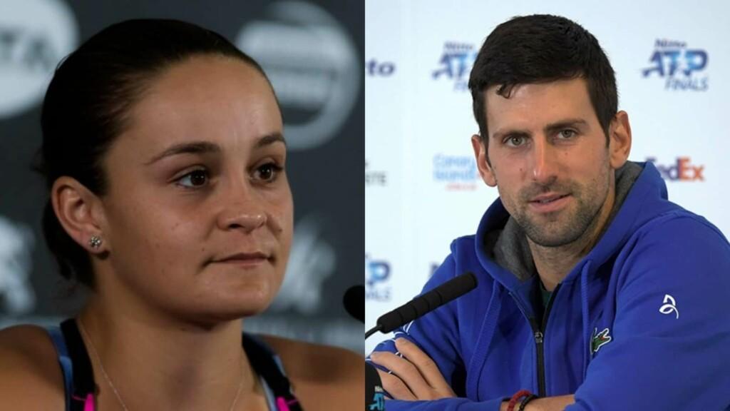 Ash Barty and Novak Djokovic