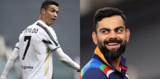 Cristiano Ronaldo Virat Kohli