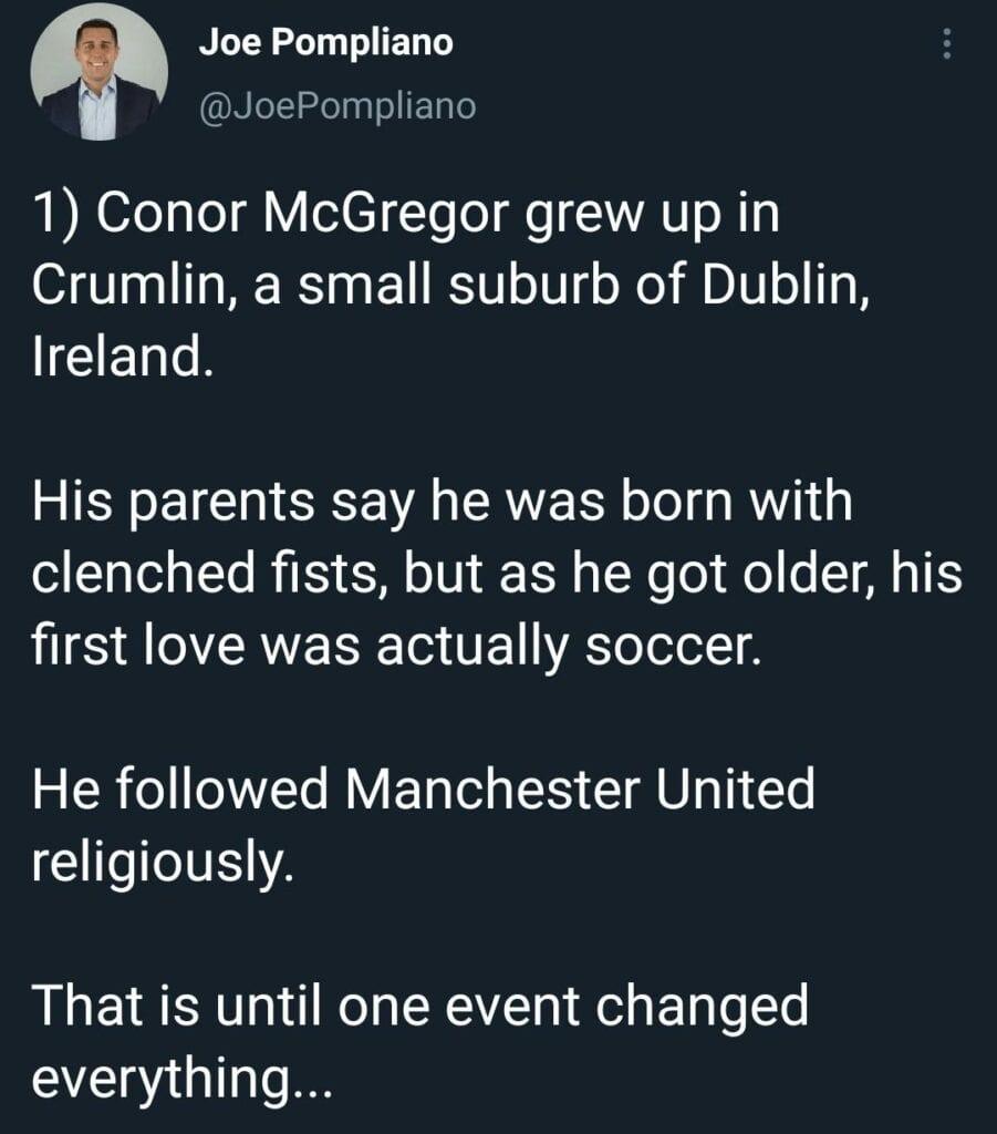 Conor McGregor life