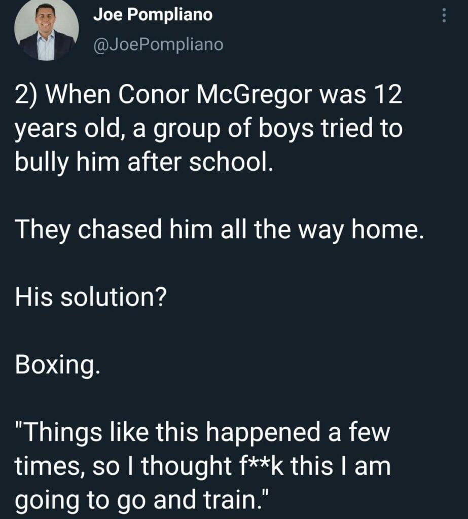 Conor McGregor childhood