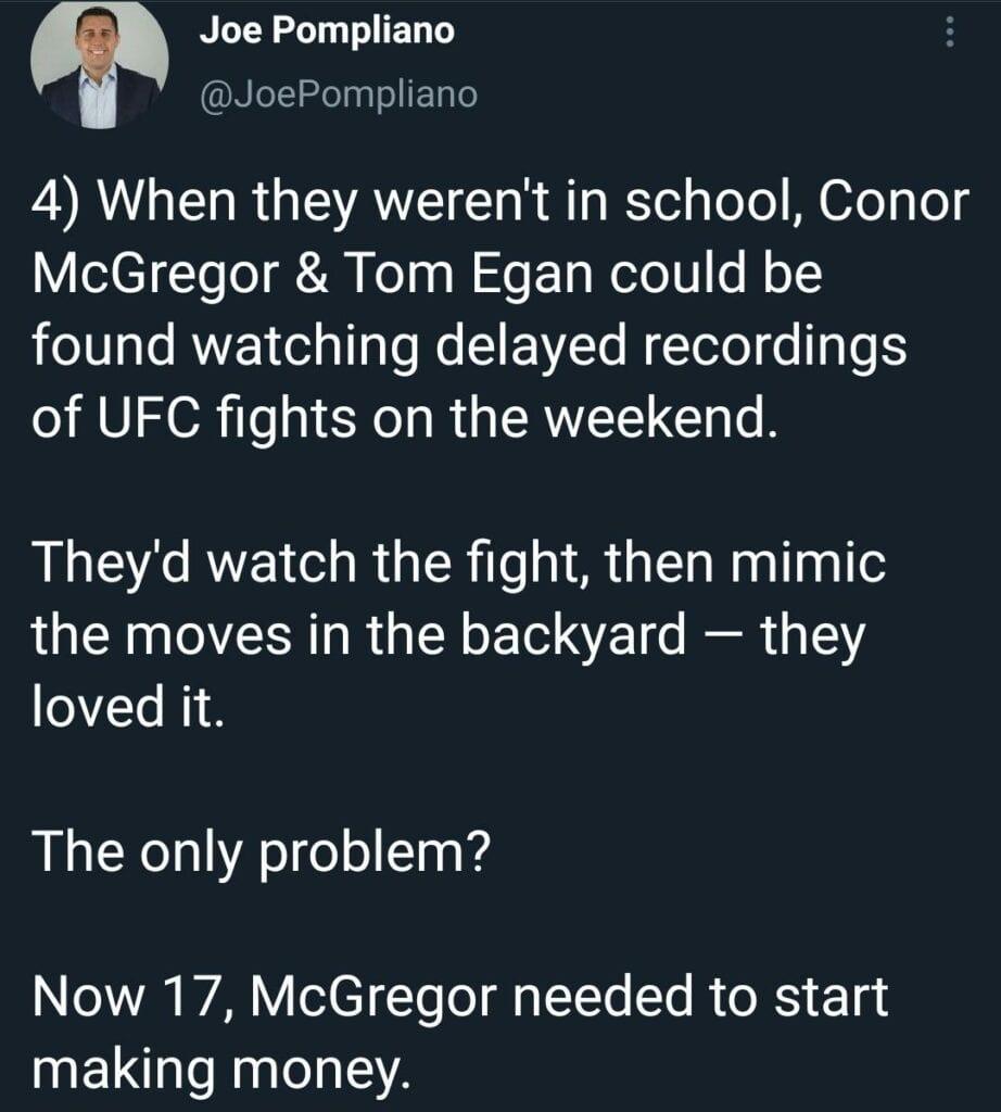 Conor McGregor and Tom Egan