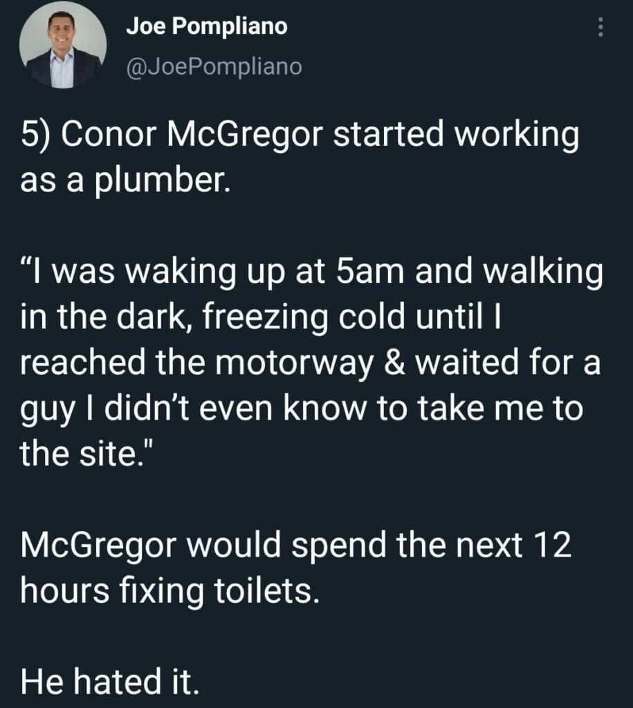 Conor McGregor plumber