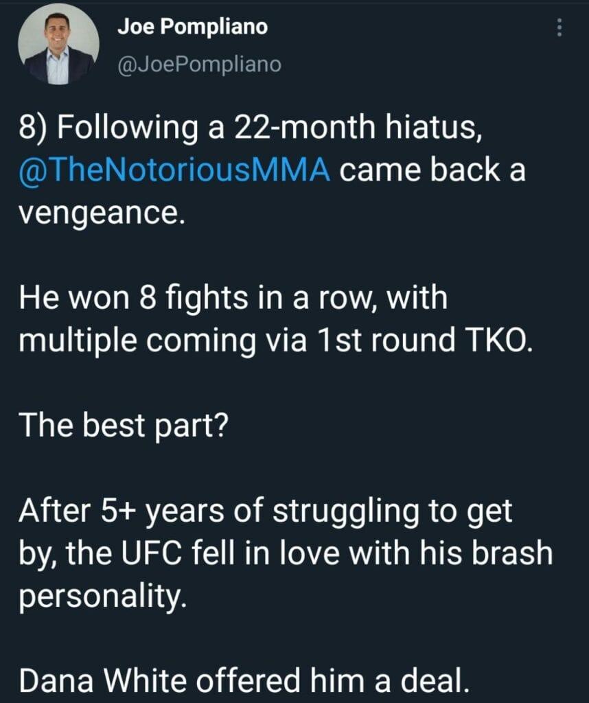 Conor McGregor debut