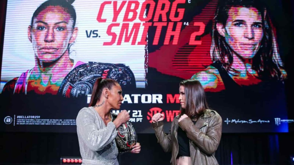 Cris Cyborg and Leslie Smith