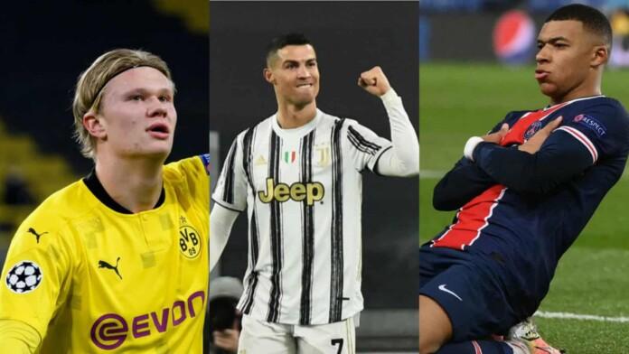 Cristiano Ronaldo, Mbappe and Halaand
