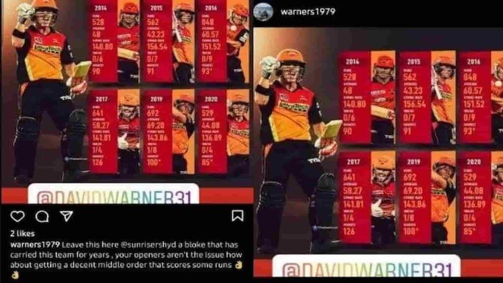 David Warner brother Instagram