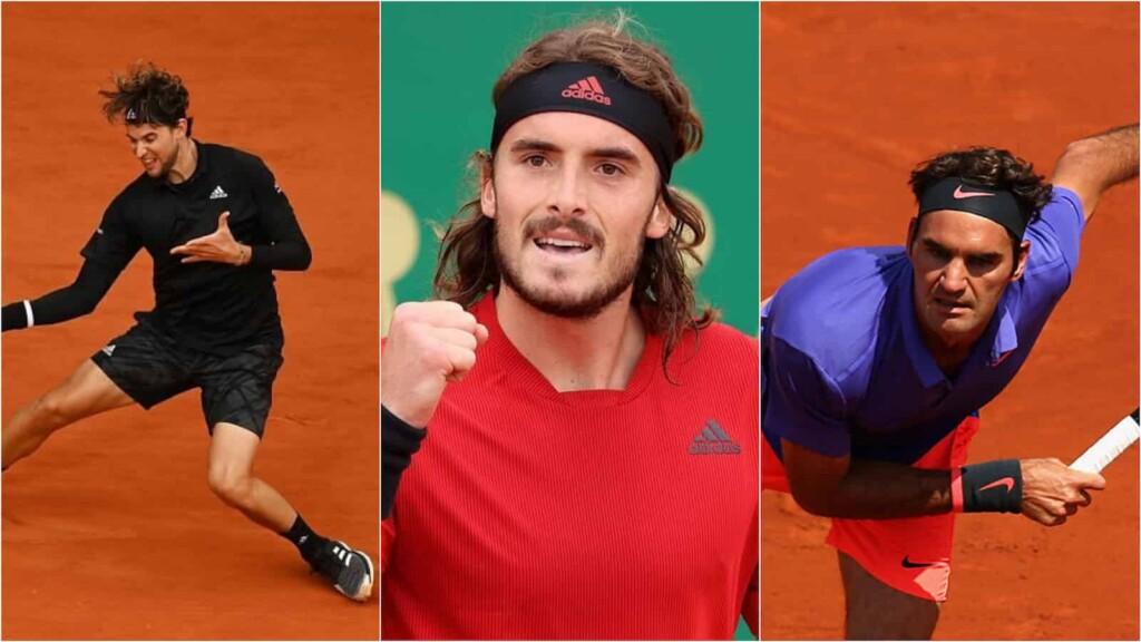 Dominic Thiem, Stefanos Tsitsipas and Roger Federer