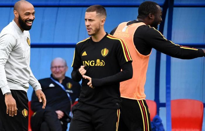 Eden Hazard and Thierry Henry