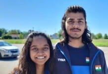 Elavenil Valarivan and Divyansh Singh Panwar at European Shooting Championships