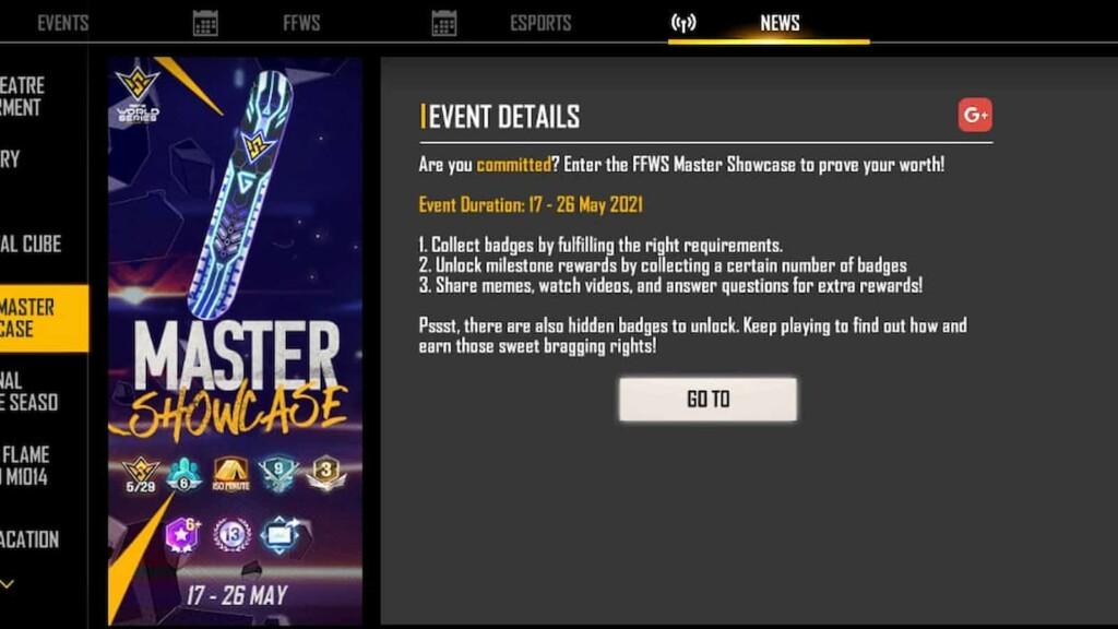 FFWS Master Showcase event