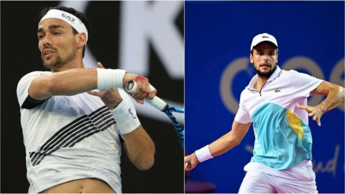 Fabio Fognini vs Gregoire Barrere will meet in the first round of the French Open 2021