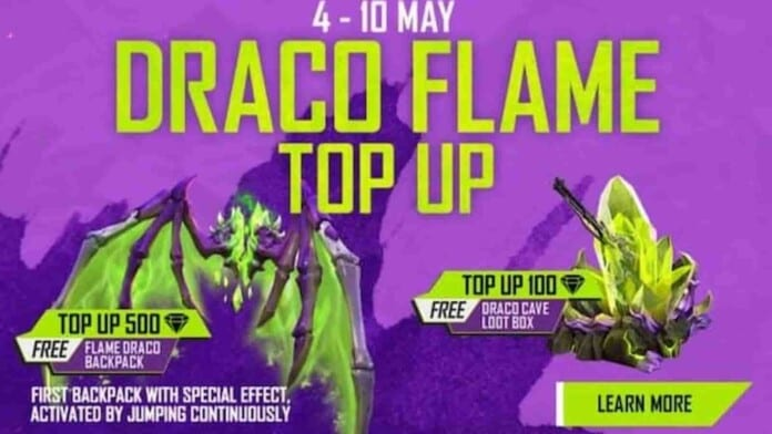 Free Fire Draco Flame Top-up event